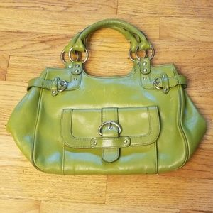 NordstromVintage/Retro Bright Green Leather Purse